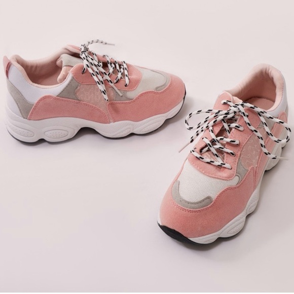 Baby Pink Chunky 9s Style Trainers